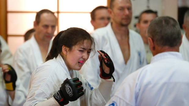 Anna-Kay Cressy shows the pain endured in grading for her black belt.