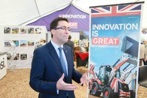 British High Commissioner to New Zealand, Jonathan Sinclair at Fieldays.