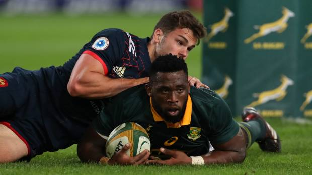 Flanker Siya Kolisi scored a try and made a big impact in South Africa's victory over France.
