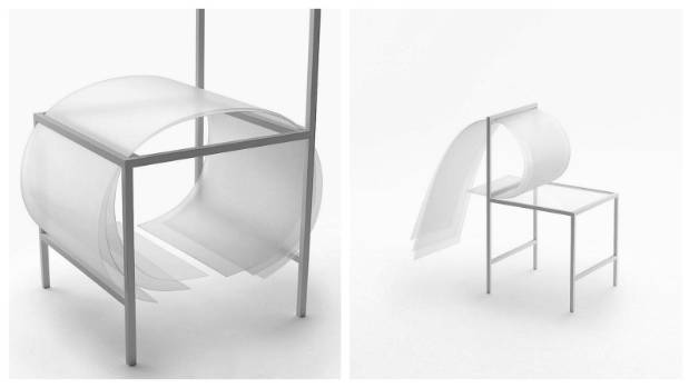 The 'bounce' of the cushions is created by manipulating the degree of curvature, and amount of space between the ...