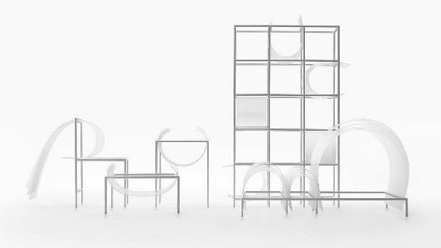 Designer Oki Sato has created an entire line of seating, along with complementary storage units.