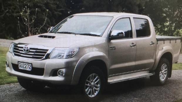 This Toyota Hilux 4x4 SR5 was reported stolen. Registration No GUZ272.