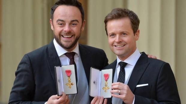 Ant and Dec were made OBEs in 2016.