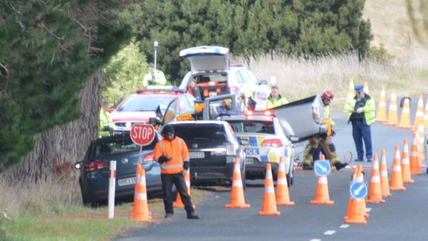 One person died after a one vehicle crash on Mapara Rd, Taupo, on Monday.