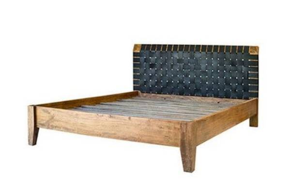 Amsterdam leather strap bed, $2,695 from Republic Home.