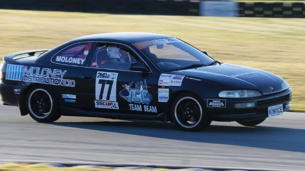 Timaru's Vaughan Moloney is his Toyota Trueno. Moloney's team finished seventh from the 18 starters.