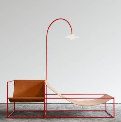 Duo seat and lamp by Muller Van Severen, $9,459 from Matter.