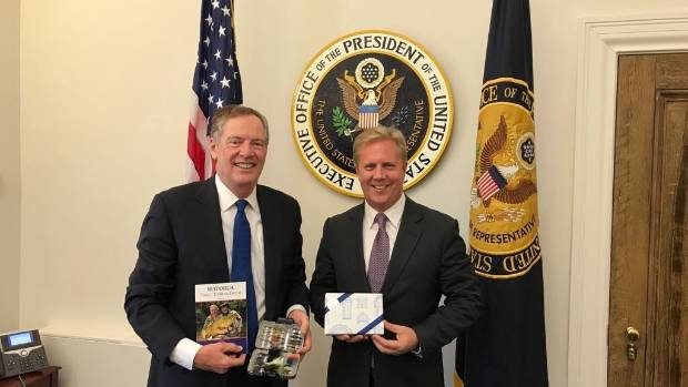 Fly fishing - and $16 billion in trade - were on the agenda when US Trade Representative Robert Lighthizer met with New ...