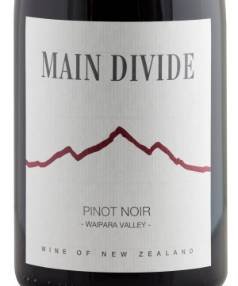 Main Divide Pinot Noir 2014, $25.