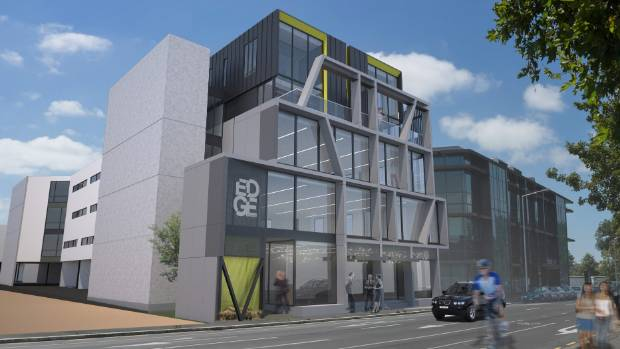 An artist's impression of The Edge planned commercial units in Kilmore St to be auctioned off the plans.