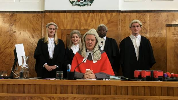 Lauren Elizabeth Archer, left, Anna Marie Goble, Justice Nicholas Davidson, Osinachi Austin Nnajieze, and Matthew James ...