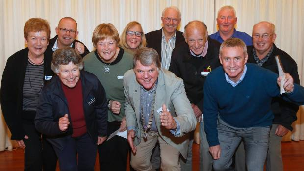 Donors and representatives of local charities at a ceremony hosted by Timaru North Rotary Club on June 15.