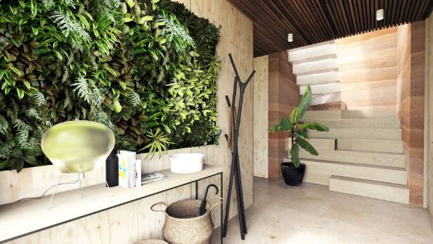 A living wall of greenery will be a feature of the entry.