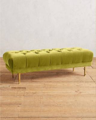 Velvet mina bench, $1,027 from Anthropologie.
