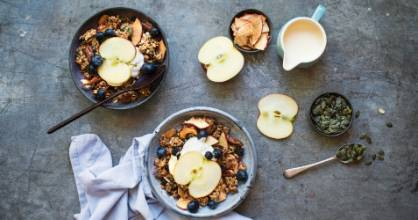 Apple crumble granola is a more decadent substitute for your usual porridge.