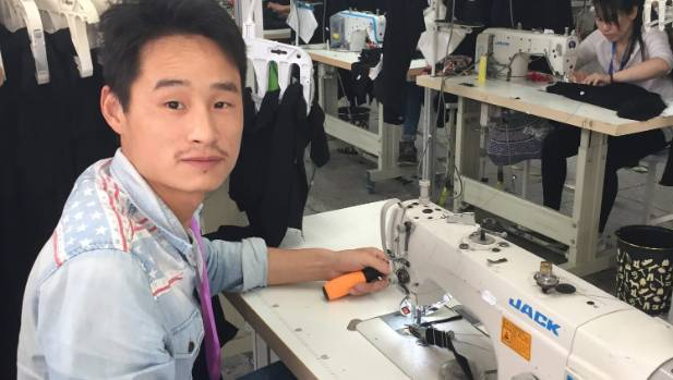 Garment worker Liu Yue is 27 years old, from He Fei City in Anhui Province, 360 kilometres away from his workplace.