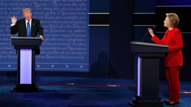 In the first US presidential debate Trump interrupted Clinton 51 times while she interrupted him 17.