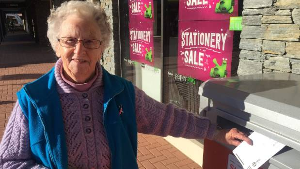 Melva Crowley, of Cromwell, got her Otago Regional Council by-election voting paper in the post in good time to meet ...