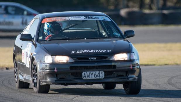 Only one of three Toyota Levins survived to the finish for winners of the South Island 800,  Phil Gurney, Paul Booth and ...