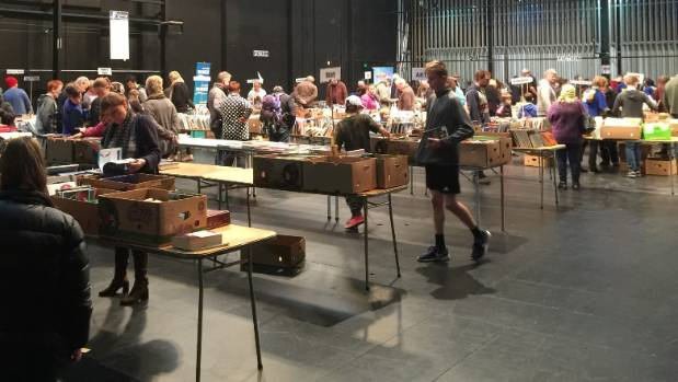 The public looks for books to buy at the Rotary Book Sale at the Civic Theatre in Invercargill on Saturday.