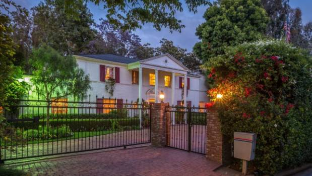 The home is tucked away behind a secure gate.