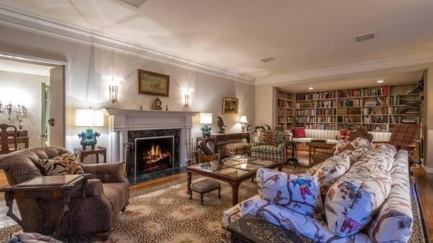 This spacious living room.
