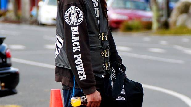 A Black Power gang member on Waitara's streets.