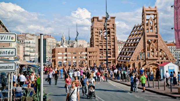 French artist Olivier Grossetete will bring his temporary cardboard structure to the city for the Christchurch Arts ...