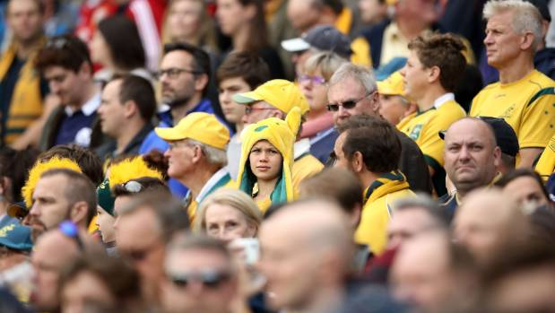 The disappointed crowd during Australia v Scotland.