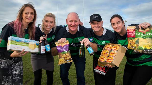 The British and Irish Lions are set to get a taste of Timaru courtesy of (from left) Lisa Templeton (Denheath Desserts), ...