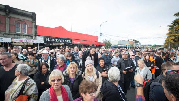 Te Kuiti was packed for the event.