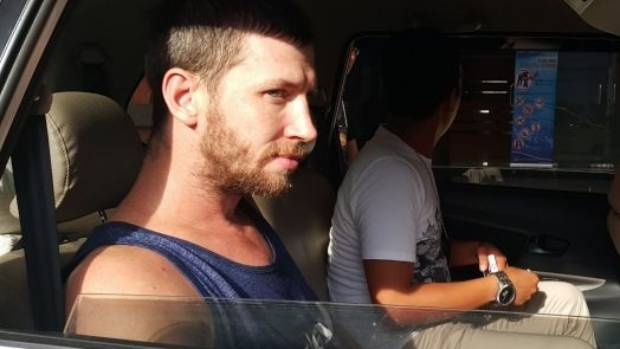Shaun Edward Davidson waiting to be transferred to Kerobokan jail in Bali after being charged with possessing another ...