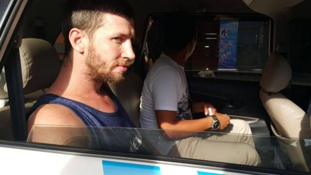 Shaun Davidson waits to be transferred to Kerobokan jail in Bali after being charged with possessing another person's ...