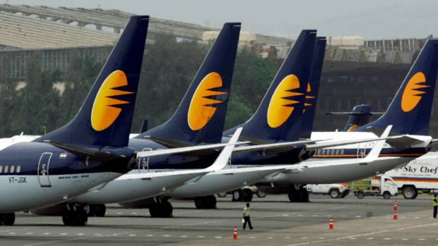 The baby boy was born Jet Airways aircraft as it travelled between Saudi Arabia and India (file photo).