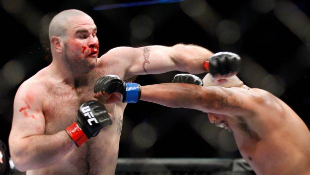 Tim Hague, pictured at a UFC fight in 2010, died two days after he was knocked out in a boxing bout.