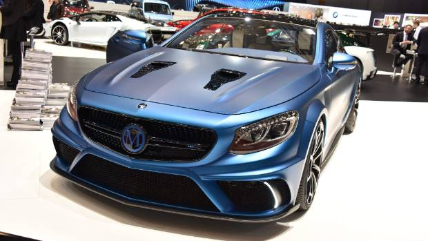 A Mansory Merc CL at the 2015 Geneva Motor Show.