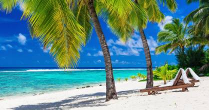 Rarotonga enjoys temperatures of about 28C during July and August.