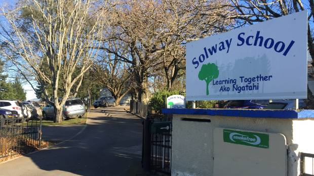 Solway School has been forced to use the library as a class in the mornings.
