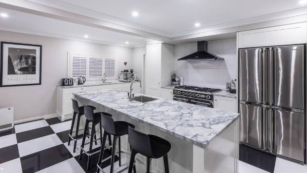 White Kitchen Nz black and white kitchen packs plenty of visual punch | stuff.co.nz