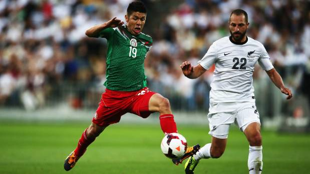 Oribe Peralta scored five goals in Mexico's two games against the All Whites in their World Cup playoff tie in 2013.