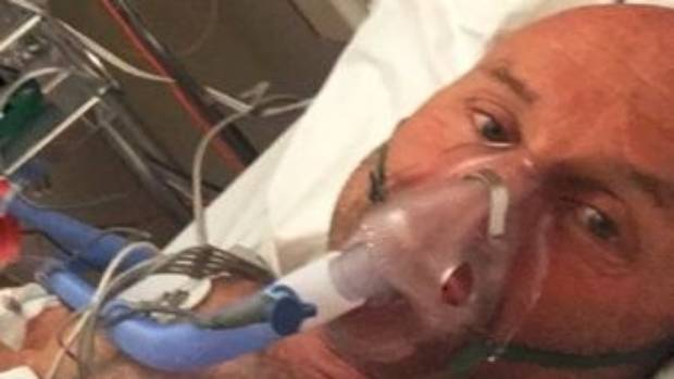 Steve Gurney posted on social media from his hospital bed after the crash in Queenstown.