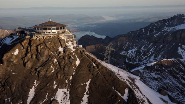 The Piz Gloria at the top of the Schilthorn in the Swiss Alps, where scenes from On Her Majesty's Secret Service were filmed.