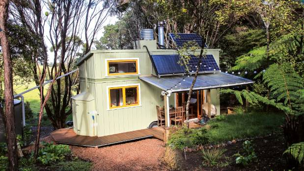 This little home is solar-powered and off the grid.