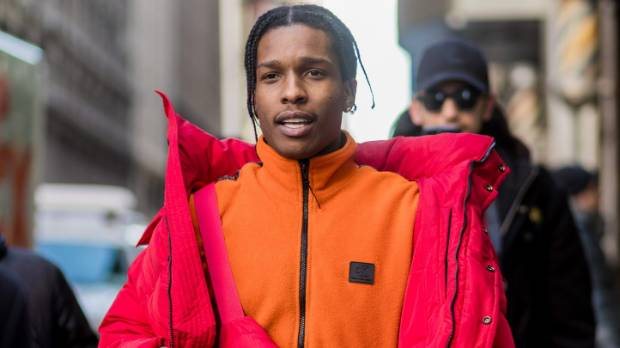 A$AP Rocky might look like he's been shopping at Kathmandu, but he's in Calvin Klein and Balenciaga.