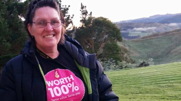 Mental health workers such as Verity Brown are asking for equal pay.