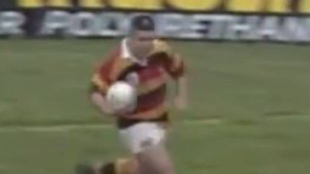 A young Warren Gatland crosses the line against the Lions in 1993.