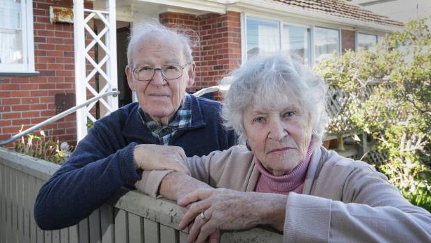 Pat and Patricia O'Neill say their Housing New Zealand home in Strathmore becomes surrounded by sewage during heavy rain.