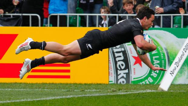 Guildford scoring for the All Blacks in the 2011 World Cup.