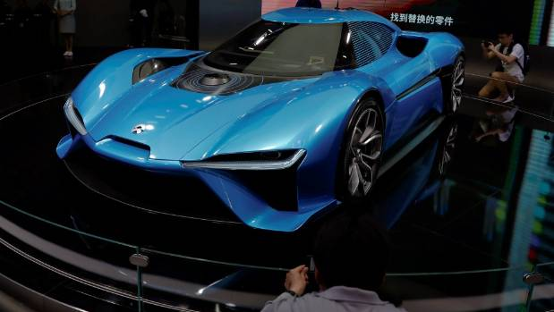 The Nio EP9 electric car on show at the Shanghai Auto Show will cost you NZ$2.1 million.