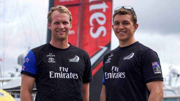Andy Maloney (right) and Josh Junior have excelled in their first America's Cup campaign.